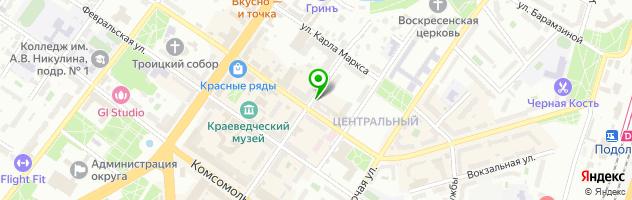 Servis+ — схема проезда на карте