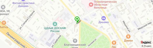 Центр красоты и СПА-эстетики Дворянская Усадьба — схема проезда на карте