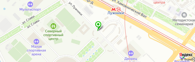 FOOTBALL COERVER ACADEMY м. Лужники — схема проезда на карте