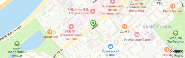 Ресторан-бар Бергштайн — схема проезда на карте