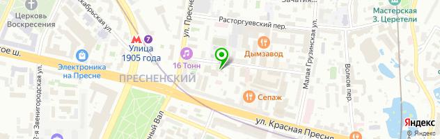 Центр красоты и здоровья Краснопресненские бани — схема проезда на карте