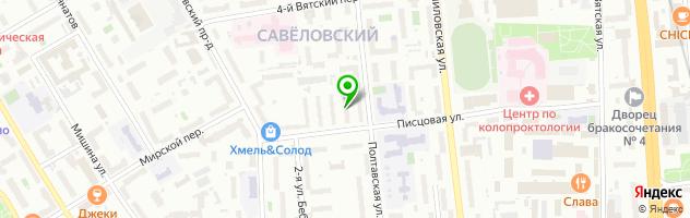 Ателье на Писцовой — схема проезда на карте