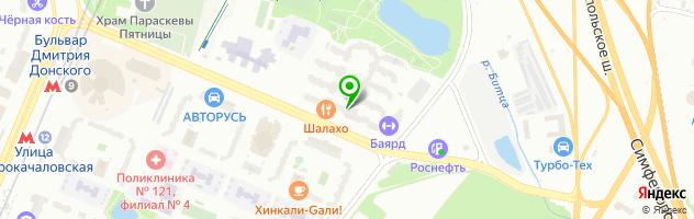 Ресторан Шалахо — схема проезда на карте