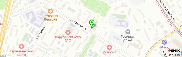 Ателье Татир, приёмный пунк химчистки — схема проезда на карте