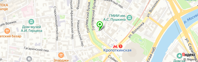 Ресторан Баба Марта — схема проезда на карте