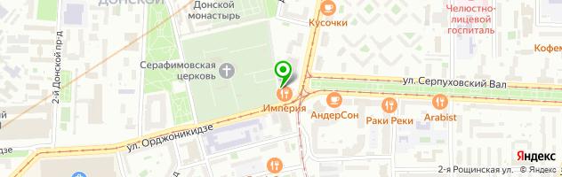 "Ресторан ""ИМПЕРИЯ"" Москва — схема проезда на карте"