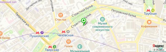 Театральный центр На Страстном — схема проезда на карте