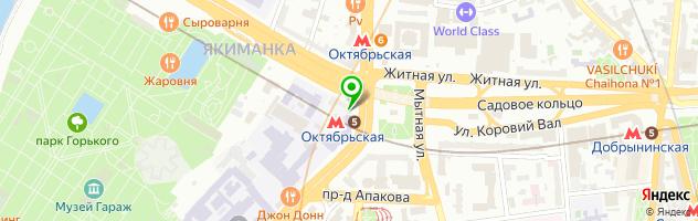 Микроблейдинг бровей на Ленинском — схема проезда на карте