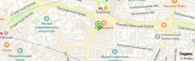 Шуз сервис — схема проезда на карте