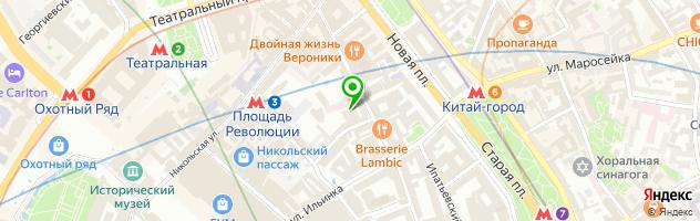 Детский медицинский центр Управления делами Президента РФ в Старопанском переулке — схема проезда на карте