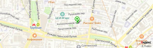 Арт-кальянная SHISHA CITY Сухаревская — схема проезда на карте