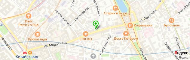 Кафе грузинской кухни Saperavi — схема проезда на карте