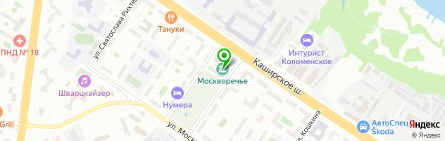 Творческий центр Москворечье — схема проезда на карте