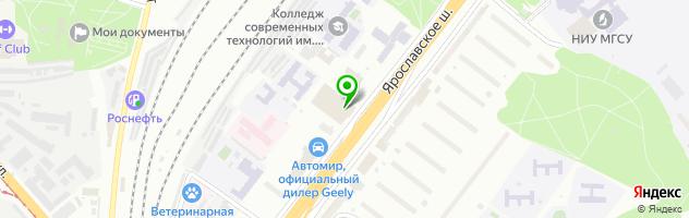 Автоцентр Infiniti — схема проезда на карте