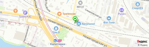"Техцентр ""Автопилот"" Площадь Ильича — схема проезда на карте"