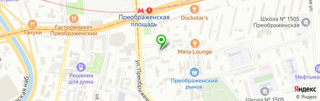 Сервисный Центр Ником Сервис, Преображенская площадь — схема проезда на карте