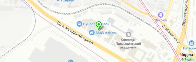 Автоцентр Авилон Volkswagen — схема проезда на карте