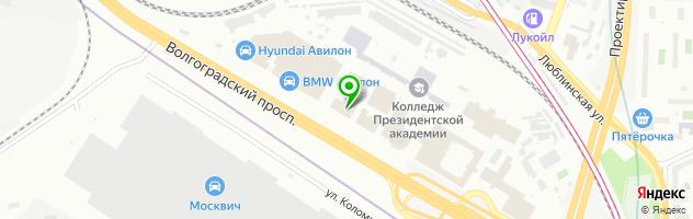 АВИЛОН — схема проезда на карте
