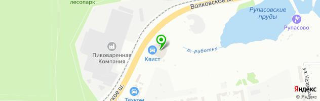 Автотехцентр Квист — схема проезда на карте