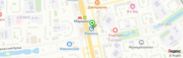 КОМПЬЮТЕРНАЯ АКАДЕМИЯ ШАГ МОСКВА МАРЬИНО — схема проезда на карте
