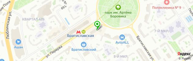 Ремонт стиральных машин Bosch в Москве — схема проезда на карте