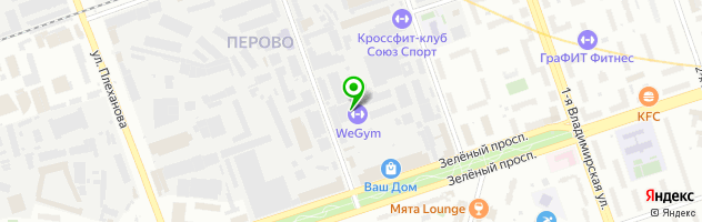 World Gym — схема проезда на карте