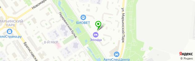 Детский клуб ИЗЮМИНКИ — схема проезда на карте