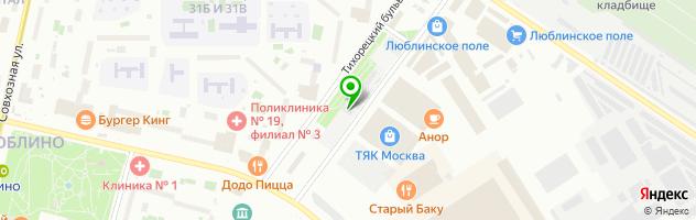 Люблино Моторс — схема проезда на карте