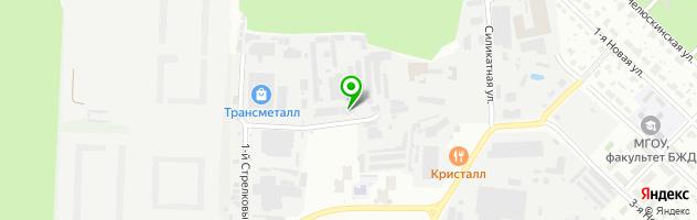 Автосервис ПРОЕКТ-М8 — схема проезда на карте
