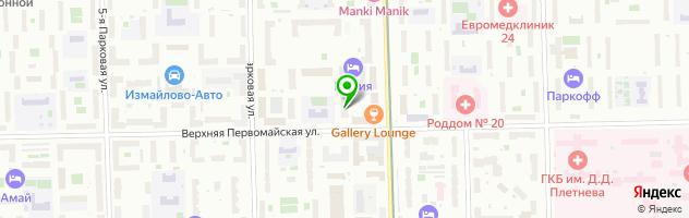 Автошкола Фортуна-Авто в Измайлово — схема проезда на карте