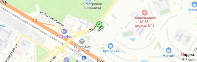 Кафе столовая СОВА — схема проезда на карте