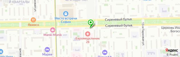 Спорт-бар Допинг — схема проезда на карте