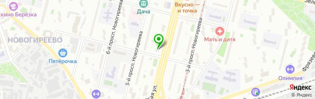 Стоматологическая клиника «Ассоциация стоматологов Москвы» в Новогиреево — схема проезда на карте