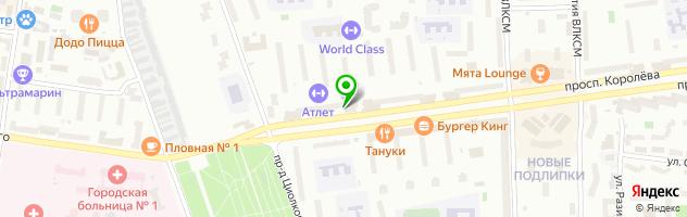 Клуб-кафе Браво — схема проезда на карте