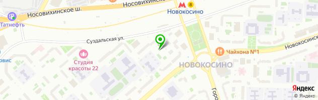 Автосервис Автопилот Новокосино — схема проезда на карте