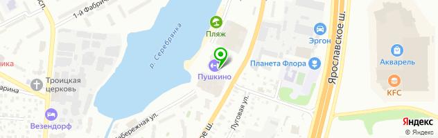Дворец спорта Пушкино — схема проезда на карте