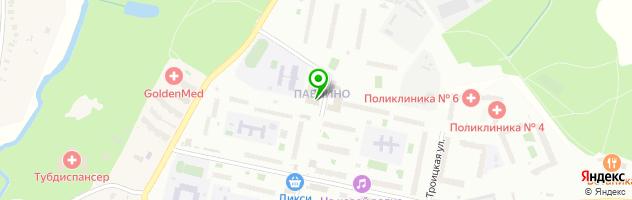 Автошкола Автополис в микрорайоне Павлино — схема проезда на карте