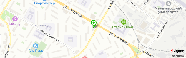 Салон парикмахерская   Каприччио на улице Гагарина 19/2 — схема проезда на карте