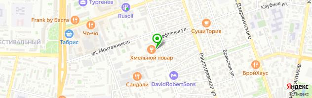 Автокомплекс Авангард-Авто — схема проезда на карте