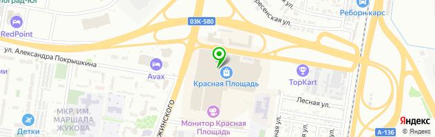 Гастропаб Крафтбург — схема проезда на карте