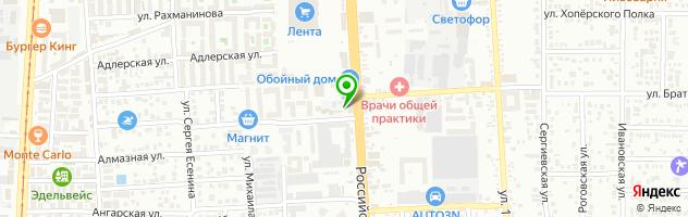 Автосервис Auto Drive на Российской улице — схема проезда на карте