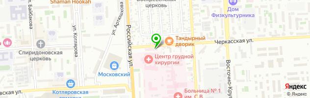 Центр Фрезениус Медикал Кеа Кубань — схема проезда на карте