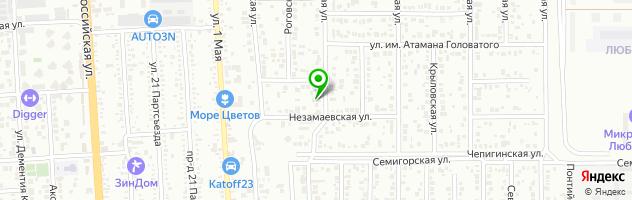 Автостудия23. Офис — схема проезда на карте