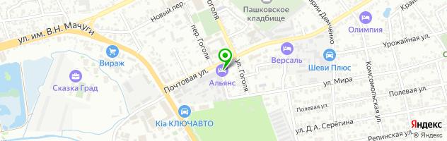 Ресторанно-гостиничный комплекс Альянс — схема проезда на карте