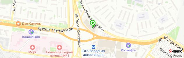 София — схема проезда на карте