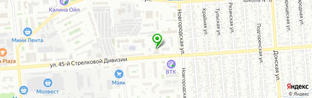 Компания по ремонту и продаже турбин Воронежтурбо — схема проезда на карте