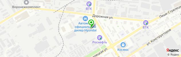 Автоцентр Автомир Богемия Воронеж — схема проезда на карте