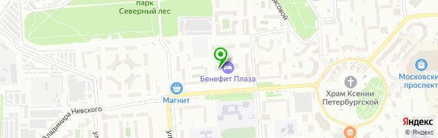 Конгресс-отель БЕНЕФИТ ПЛАЗА — схема проезда на карте