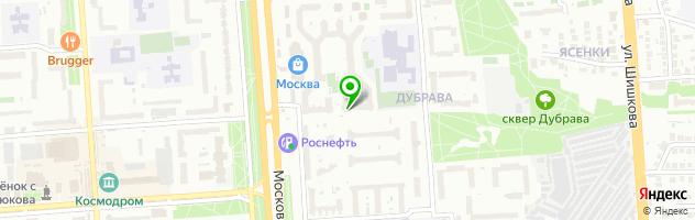 Поликлиника Дубрава — схема проезда на карте