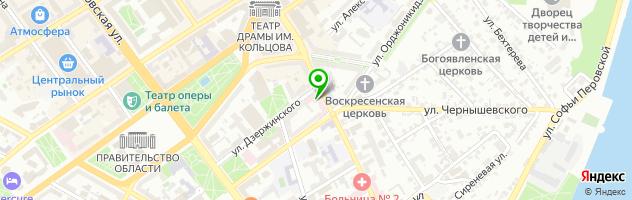 Компания Воронеж Дайв — схема проезда на карте